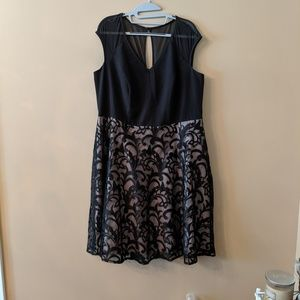 Black and Nude Cocktail Dress